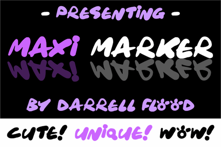 Maxi Marker Font handwriting design
