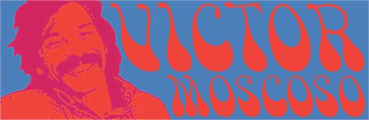 Victor Moscoso Font illustration design