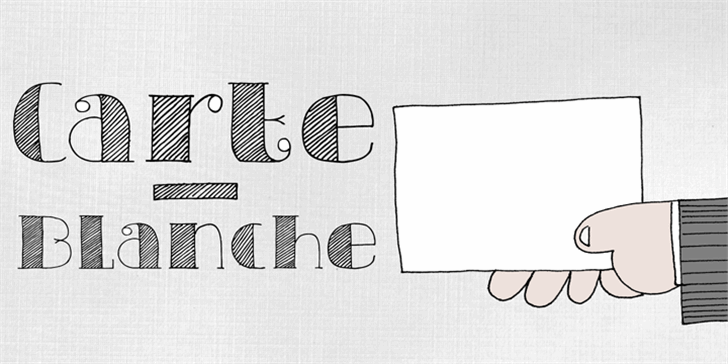DK Carte Blanche Font drawing design