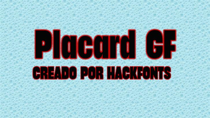 Placard GF Font screenshot poster