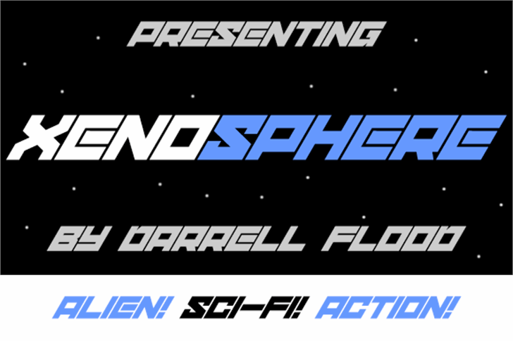 xenosphere Font text screenshot