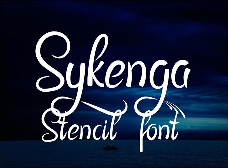 Sykenga Font poster