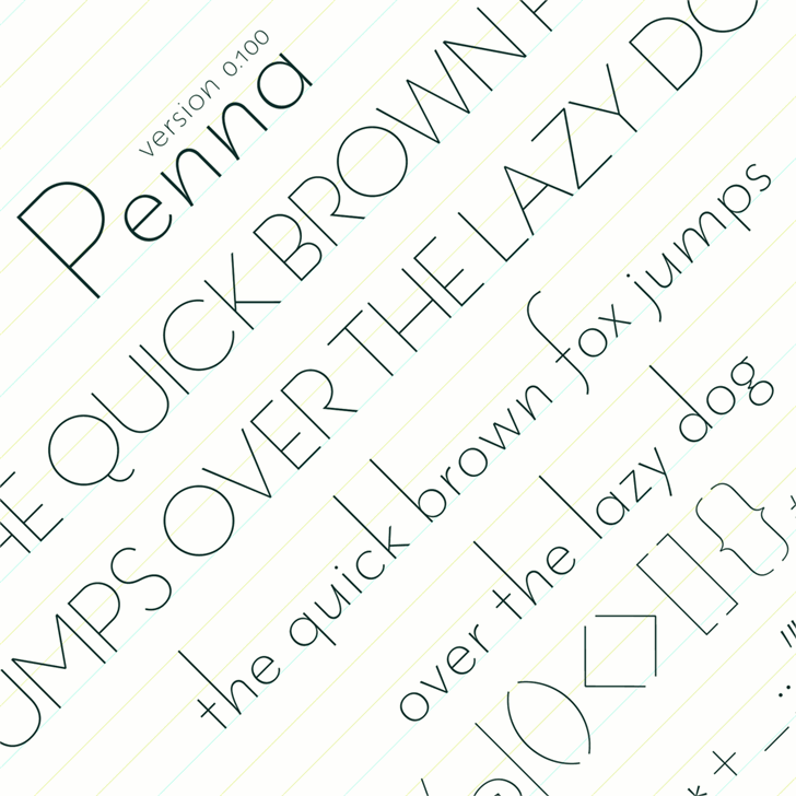 Penna font by arro