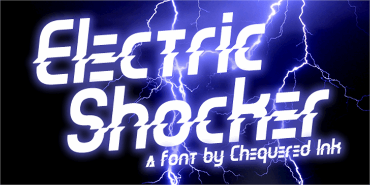 Electric Shocker font by Chequered Ink