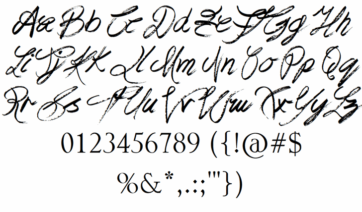 Praying Angel Font Letters Charmap