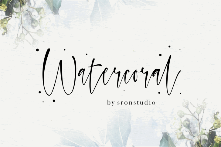 Watercoral Font handwriting text