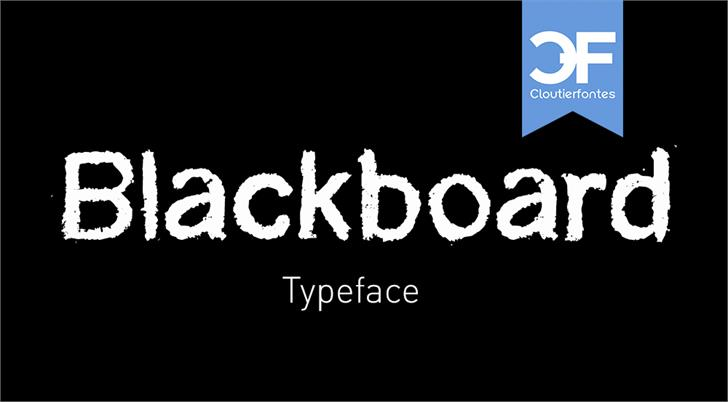CF Blackboard Personal Font design screenshot