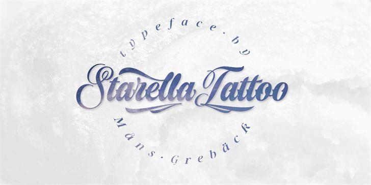 Starella Tattoo PERSONAL USE Font poster