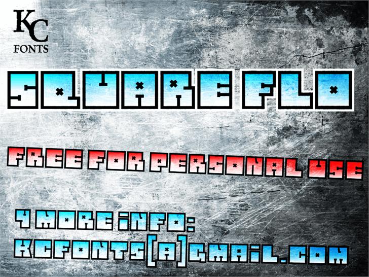 Square Flo Font screenshot design