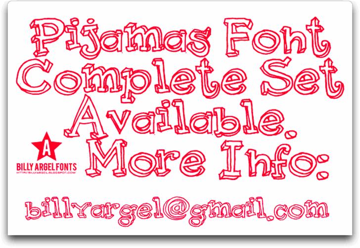 Pijamas font by Billy Argel