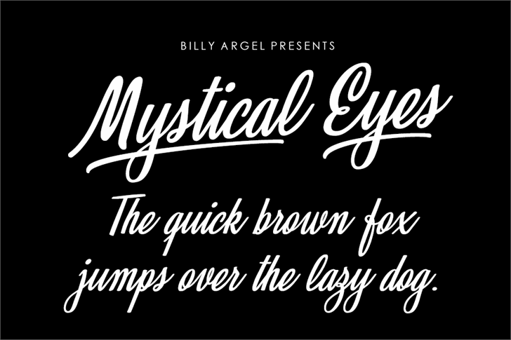 Mystical Eyes Personal Use Font design text