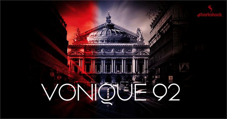 Vonique 92 Font screenshot poster