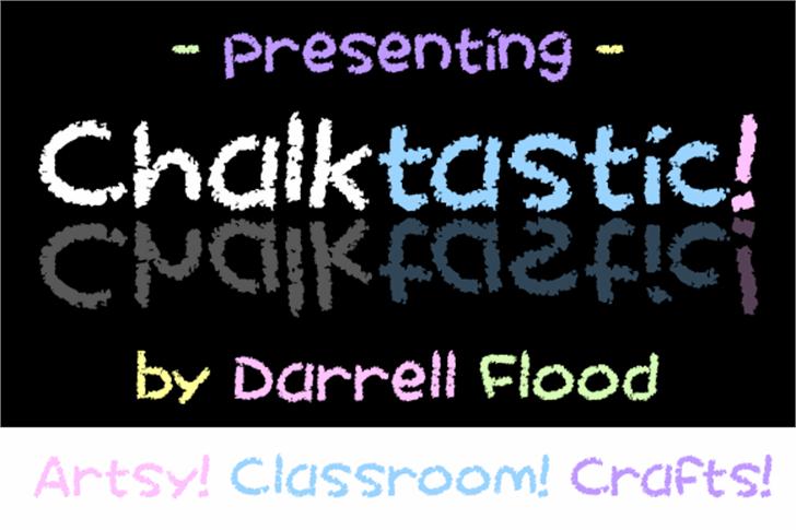 Chalktastic Font text screenshot