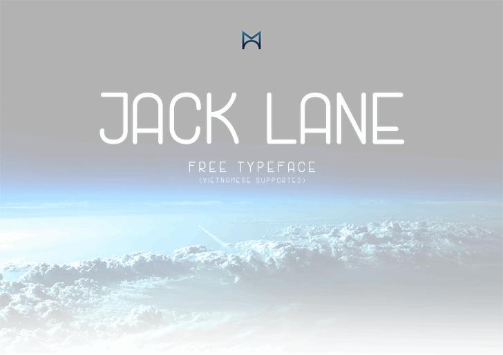 Jack Lane Font screenshot design