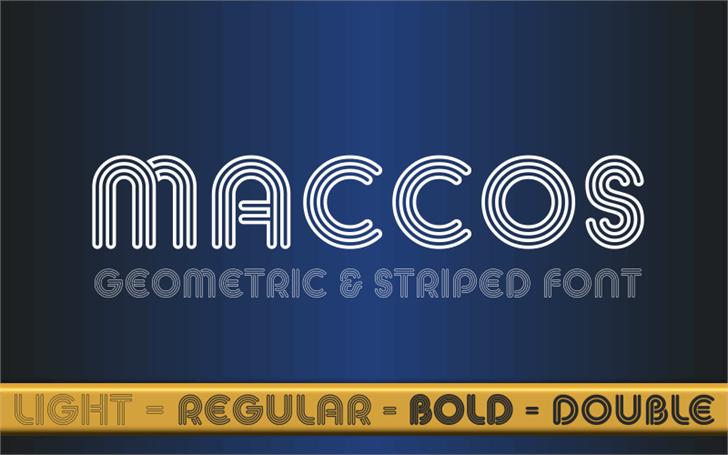 MACCOS Demo Font screenshot design