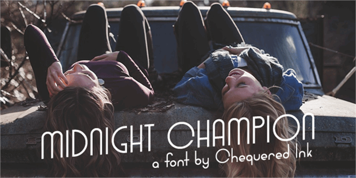 Midnight Champion font by Chequered Ink