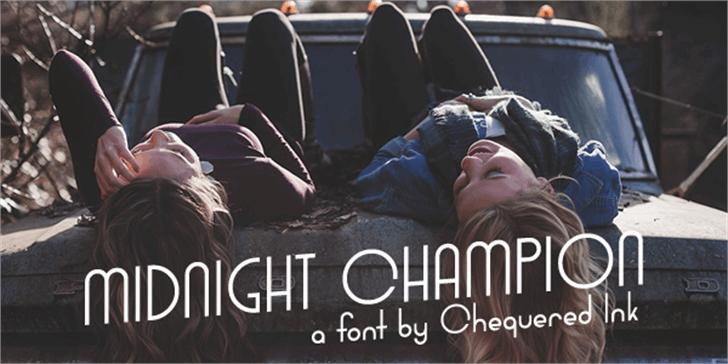 Midnight Champion Font person book