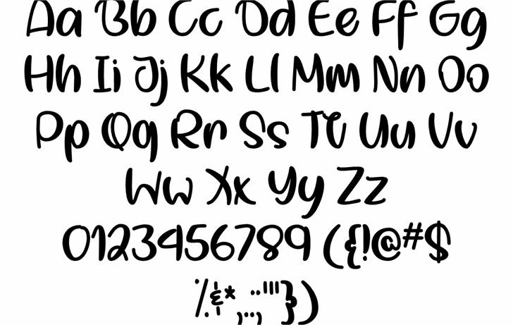 Smol Kitty Boi Regular Font Letters Charmap