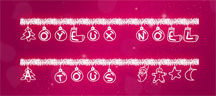 PWChristmasTinsel Font design text