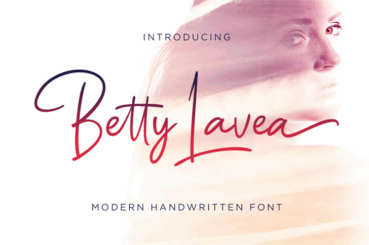 Betty Lavea Font handwriting text