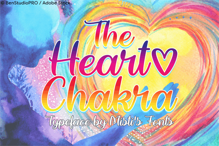 The Heart Chakra Font poster abstract