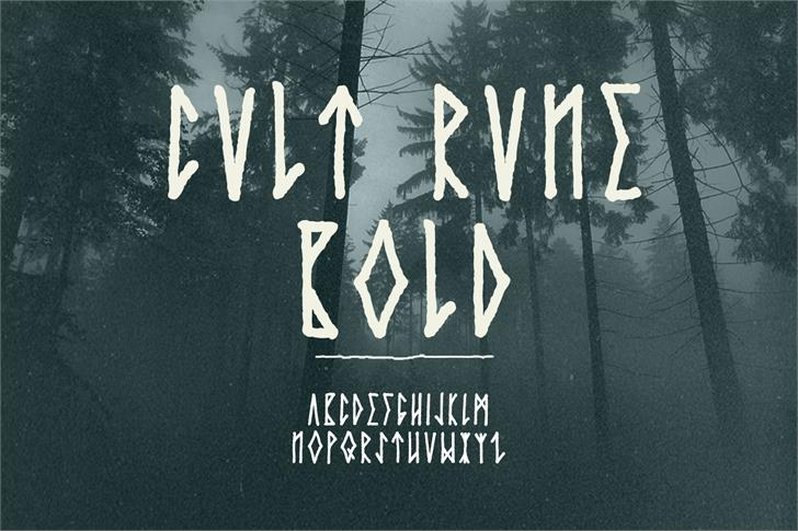 Cvlt Rvne Demo font by Out Of Step Font Company