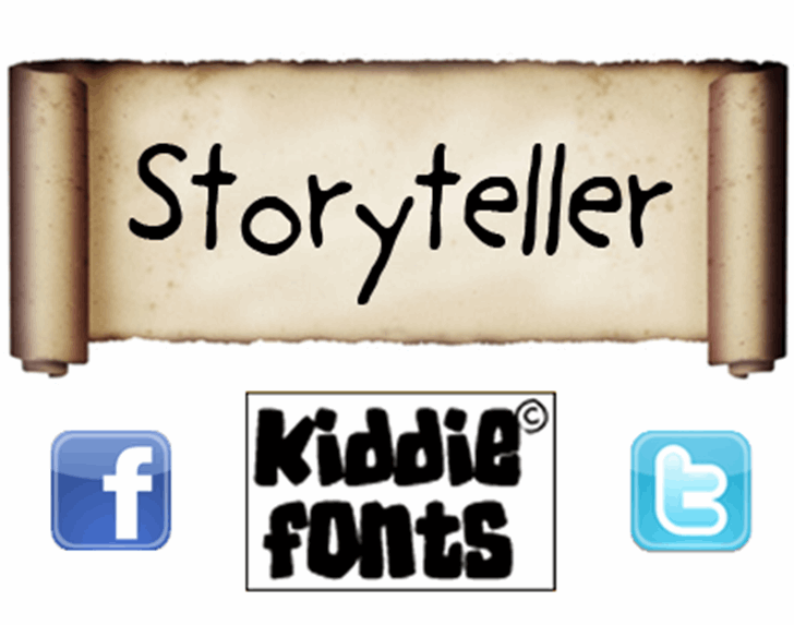 Storyteller Font handwriting text
