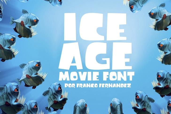Ice Age Movie Font screenshot cartoon