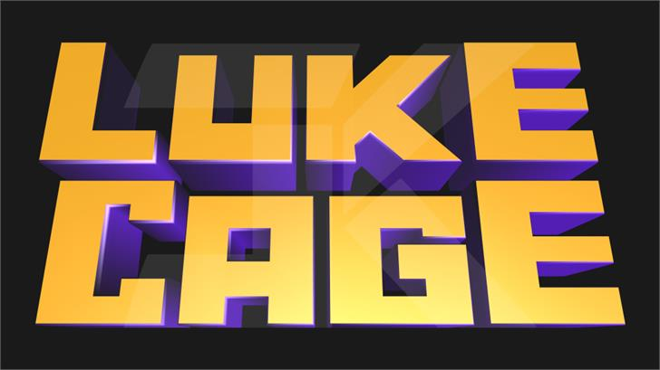 Marvel's Luke Cage Font screenshot design