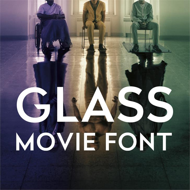 Glass Font poster screenshot