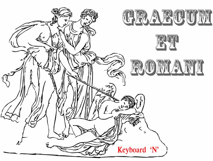 Graecum et Romani Font cartoon drawing