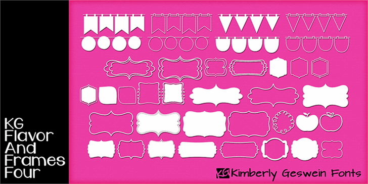 KG Flavor And Frames Four font by Kimberly Geswein
