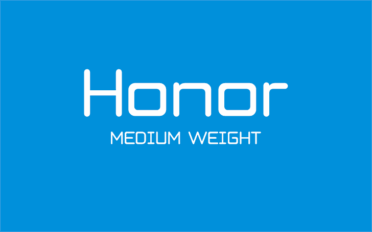 Honor Font screenshot design