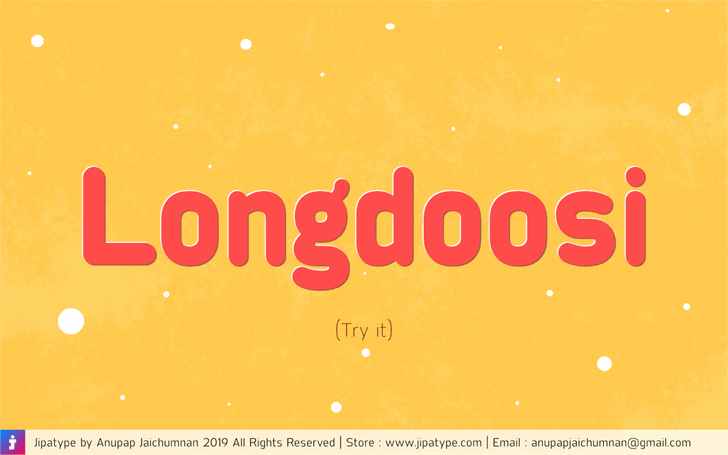 Longdoosi Personal Use Font screenshot