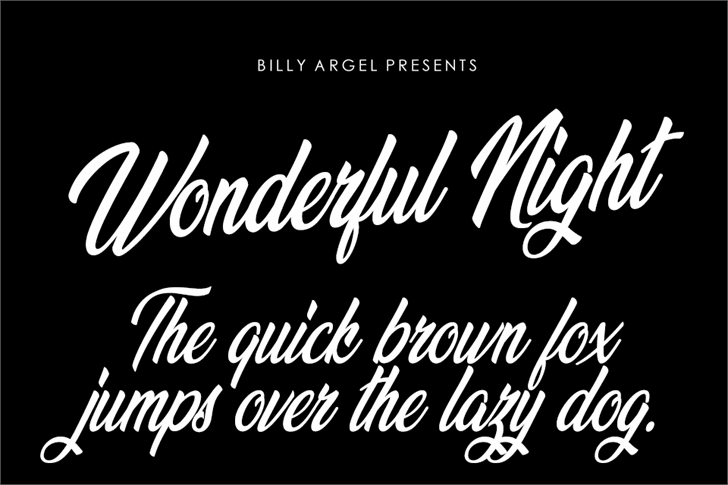 Wonderful Night Personal Use font by Billy Argel