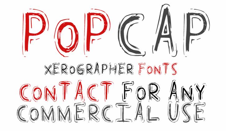 PopCap Font design