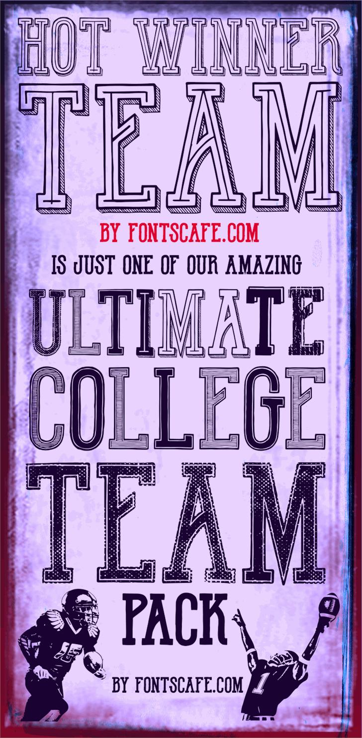 Hot Winner Team DEMO Font text poster
