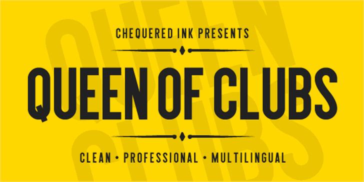 Queen of Clubs Font poster screenshot