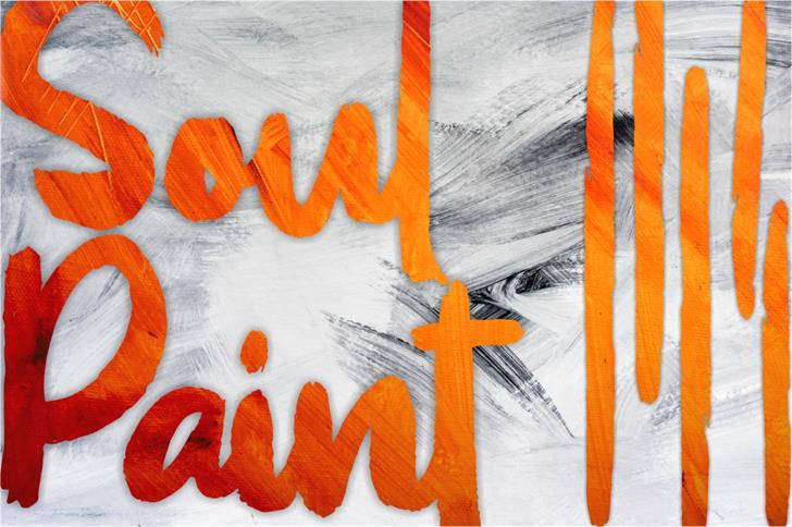 Soul Paint Font drawing child art