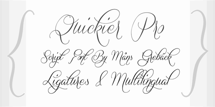 Quickier Demo Font handwriting typography