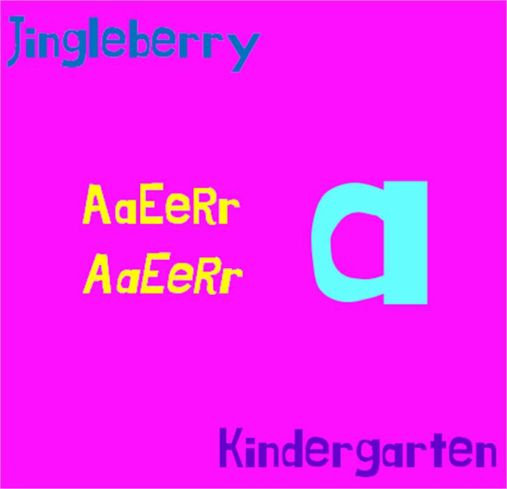 Jingleberry Font screenshot font