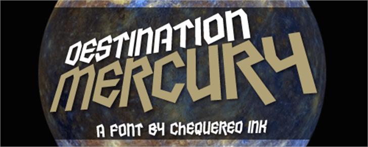 Destination Mercury Font poster book