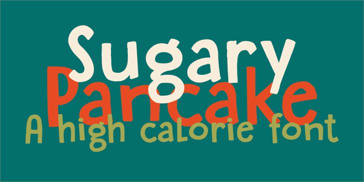 DK Sugary Pancake Font design poster