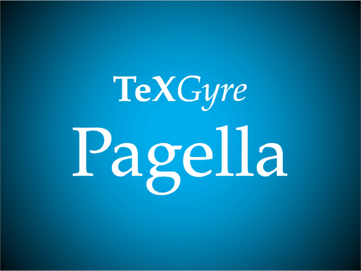 TeXGyrePagella Font design screenshot