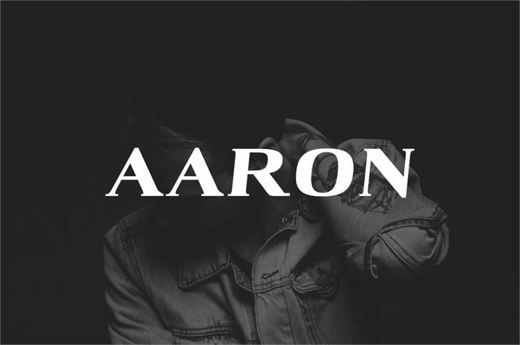 Aaron Black Font jacket