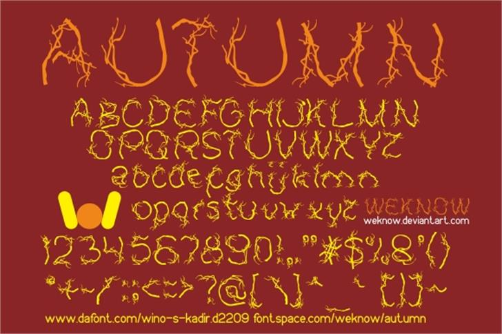 AUTUMN Font handwriting design