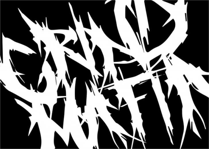 Grind Mafia Font drawing sketch