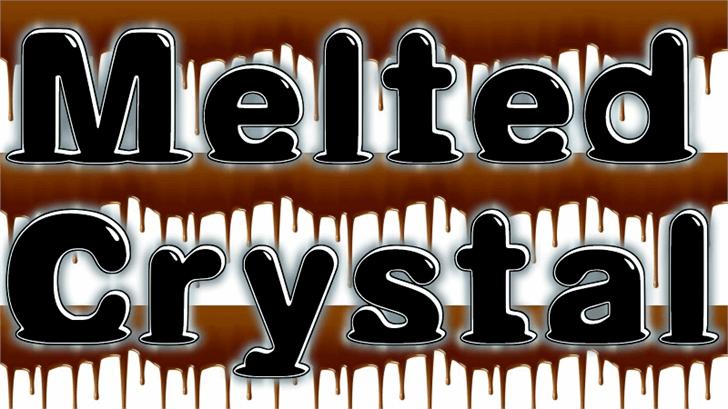 Melted Font design poster