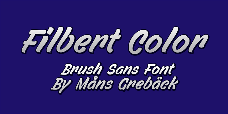 Filbert Color Personal Use Font design text