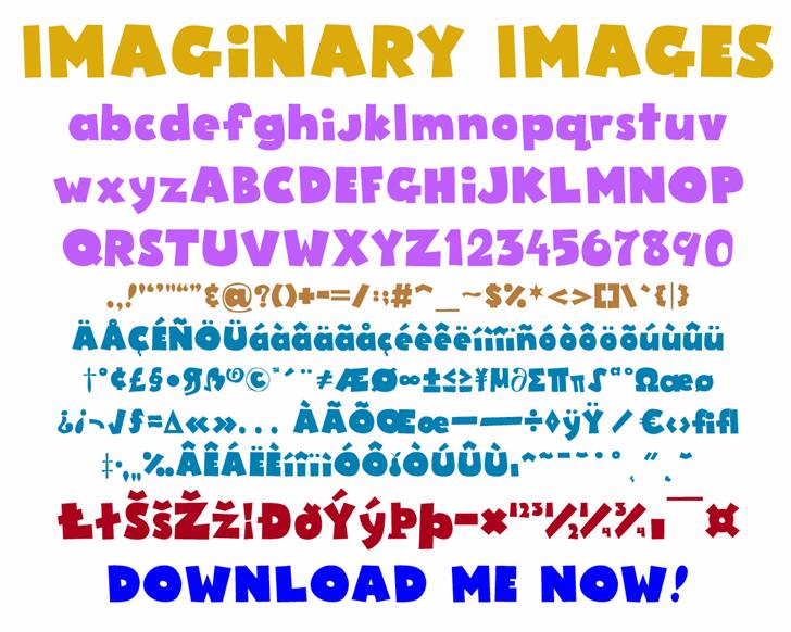 Imaginary Images Font text font